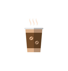 Isolated coffee flat icon cappuccino vector
