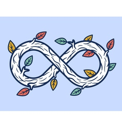 Wooden infinity shape vector