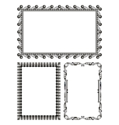 Gray metal frames - set vector
