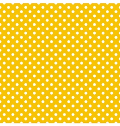 Tile pattern white polka dots on yellow background vector image