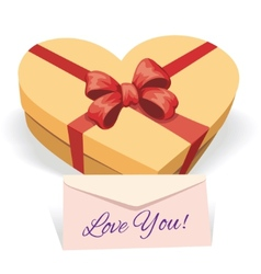 Valentines day concept with gift box vector
