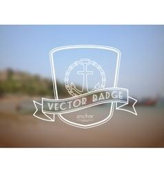 retro nautical badge vector image