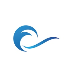 Water wave icon logo template vector