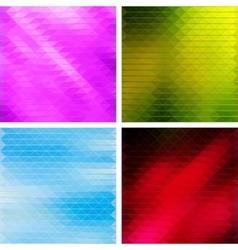 Triangular Mosaic Backgrounds Set vector image