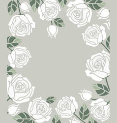 Background with white roses vector
