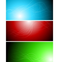 banners with abstract lines vector image vector image