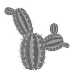 Big ferocactus icon monochrome vector
