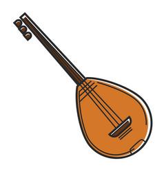 bouzouki cyprus national musical instrument vector image vector image