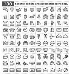 Camrra security icon vector