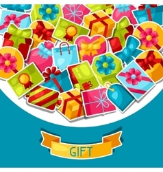 Celebration background or card with colorful vector image vector image