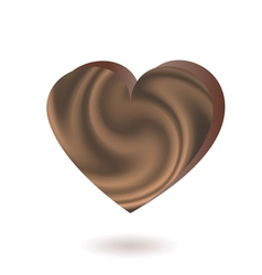 Chocolate heart vector