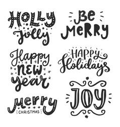 Christmas lettering vector