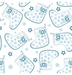 Christmas stockings seamless vector