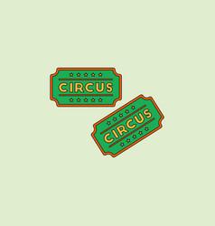 Circus show entrance tickets templatecolorful vector