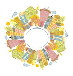 city circle vector image vector image