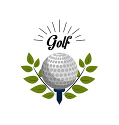 Emblem golf game icon vector