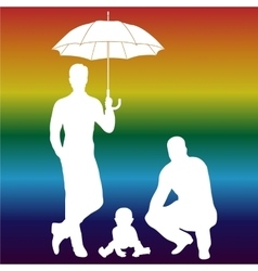 Gay family vector