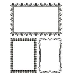 Gray metal frames - set vector
