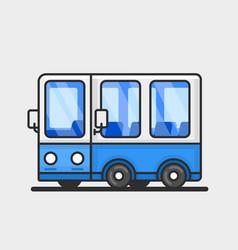 Modern bus icon flat design vector
