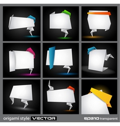 origami borders vector image vector image