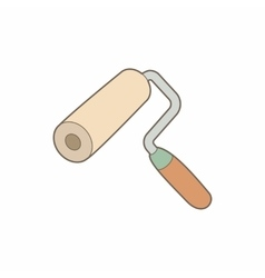 Paint roller icon in cartoon style vector image