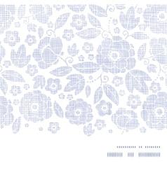 Purple textile flowers texture horizontal frame vector