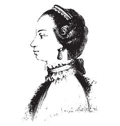 Queen charlotte of england vintage vector