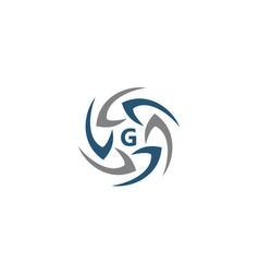 Rotation arrow process plan boomerang letter g vector