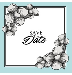save the date card design vector image vector image