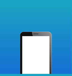 Smartphone copyspace on blue background vector