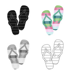 summer rubber flip flopsflip flops single icon in vector image vector image