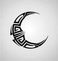 Tribal moon vector