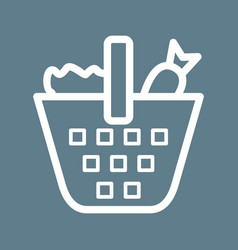 Vegetable basket vector