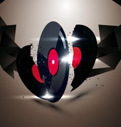 vinyl discs vector image vector image