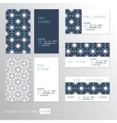 Visit cards set vector image vector image