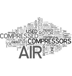What you need to know about compressed air vector