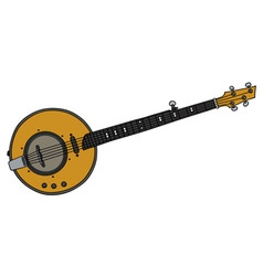 Yellow electric banjo vector