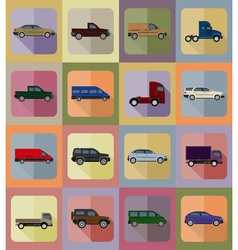 Transport flat icons 20 vector
