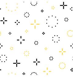 memphis seamless pattern - fashion 80-90s vector image