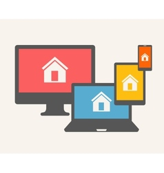 Home Concept vector image