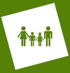 Family sign  white icon obtained as a vector