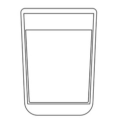 Glass with fluid the black color icon vector