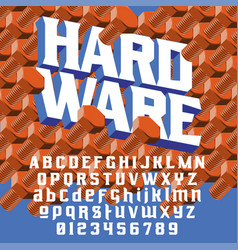 Strength typeface hardware vector