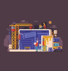 site under construction concept vector image