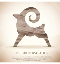 Geometric shape of the goat vintage style vector