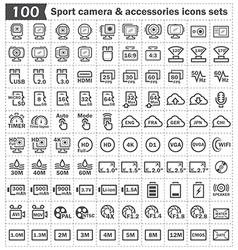 Sport camera icon vector