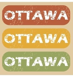 Vintage ottawa stamp set vector