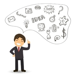 Idea for the business man business successful vector