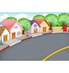 Group of houses vector
