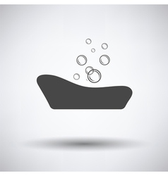 Baby bathtube icon vector